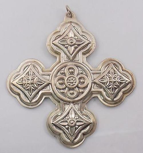 Reed & Barton Annual Cross Ornament 1971