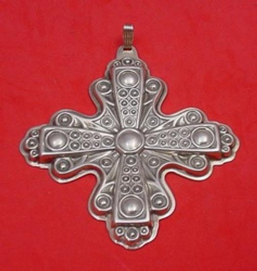 Reed & Barton Annual Cross Ornament 1972