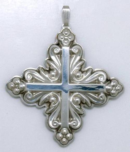 Reed & Barton Annual Cross Ornament 1983