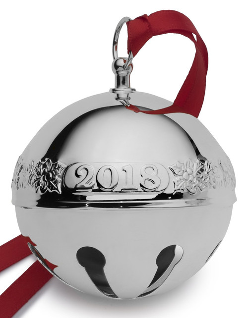Wallace Annual Sleigh Bell Ornament 2018 - Silver Plate