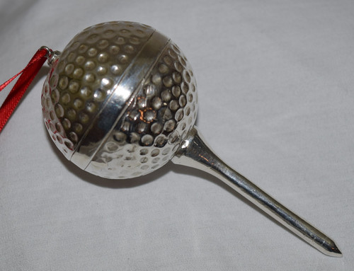 Designs by Baron Golf Ball on Tee Ornament