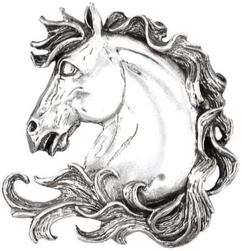 Hand & Hammer Horse Head Brooch