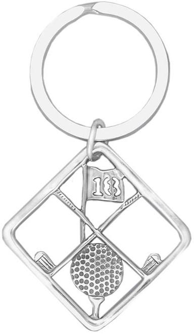 Hand & Hammer Golf Key Ring