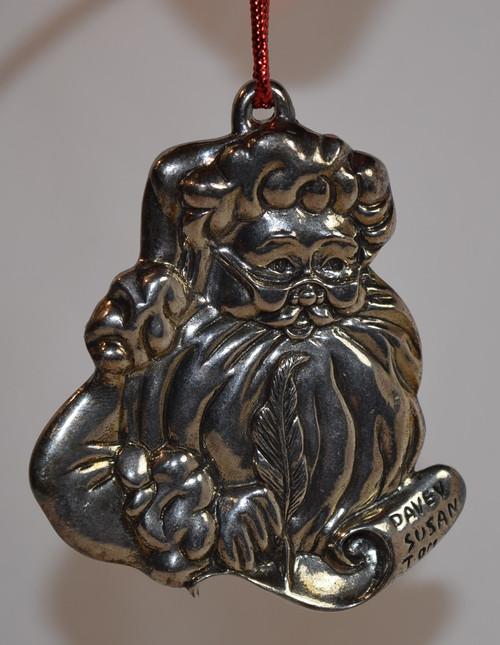 Gorham Silver Plate Santa Face Ornament