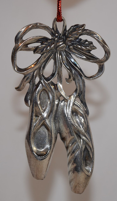 Gorham Silver Plate Ballet Slipper Ornament