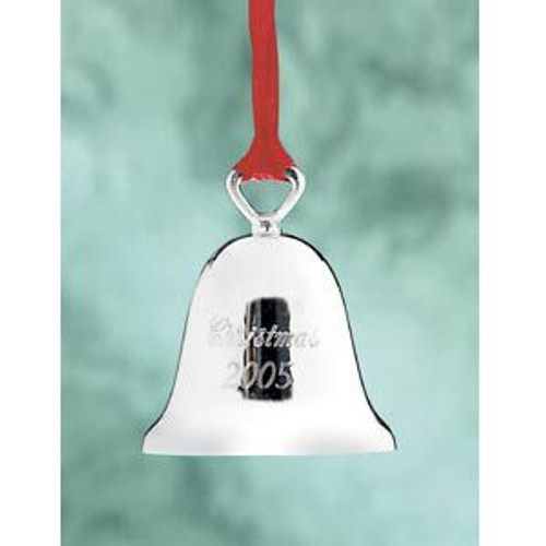 Reed & Barton Annual Silver Plate Christmas Bell Ornament 2005