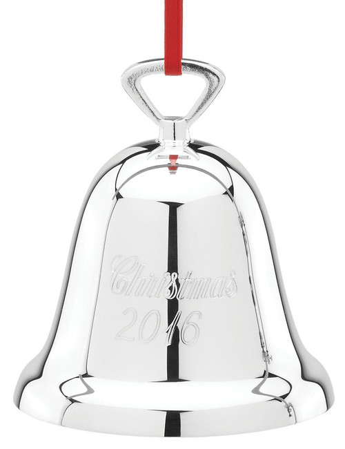 Reed & Barton Annual Silver Plate Christmas Bell Ornament 2016
