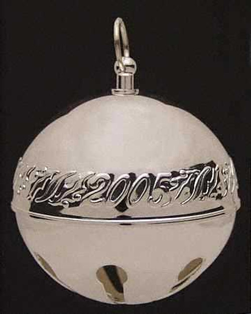 Wallace Annual Sterling Sleigh Bell Ornament 2005