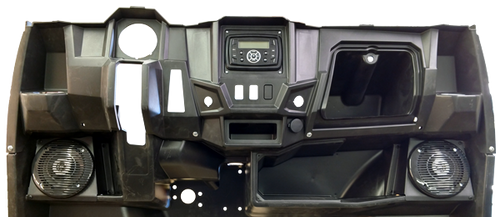 Drive Unlimited's Polaris Ranger Midsize In Dash Kit Installed (Please note: the 806 head unit featured in this picture has been upgraded to the 8102)