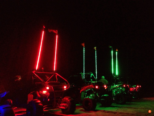 Drive Unlimited's LED Whip with quick disconnect  Prices Vary
