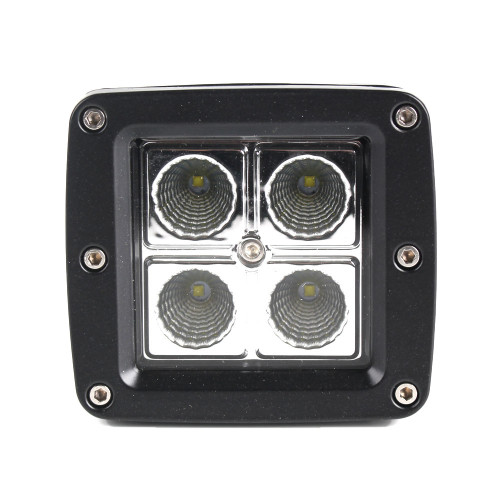 """Xtreme Lighting Products' """"Element""""  3in Square 4 CREE LED Work Light - Flood"""