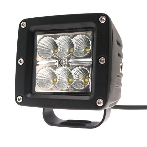 "Xtreme Lighting Products - ELEMENT 3"" - 6 CREE LED Square Work Light - Flood Beam"