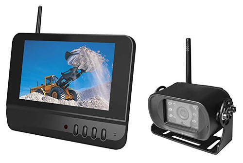 "7"" Digital wireless monitor and heavy duty bracket camera system"