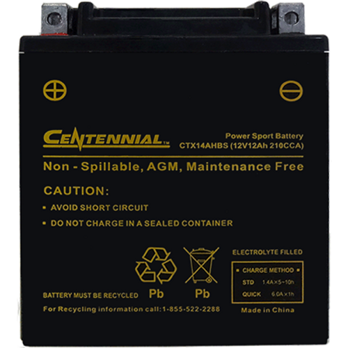Centennial CTX14AHBS Power Sport Battery