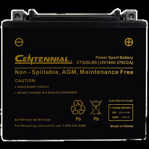 Centennial CTX20LBS Powersports Battery