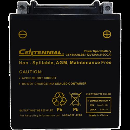 Centennial CTX14AHLBS Powersports Battery