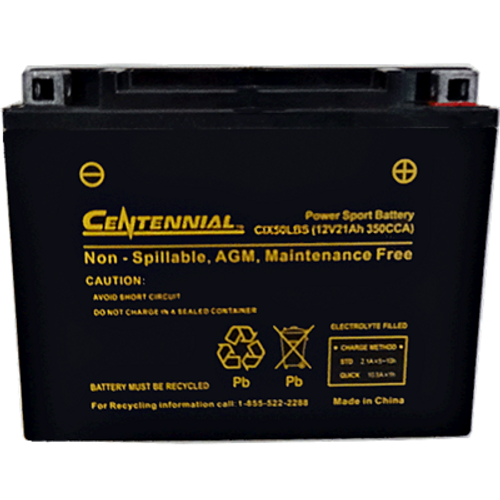 Centennial CIX50LBS Powersports Battery