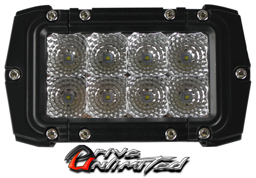 """Drive Unlimited's  4in """"VENOM"""" Double Row  CREE LED Light Bar - Flood"""