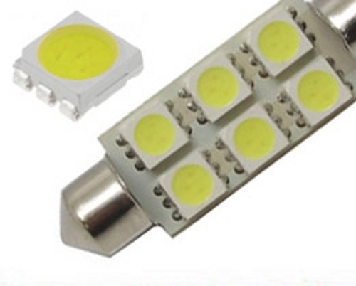 42mm Festoon Bulb with 6 (5050) LEDs