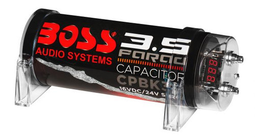 BOSS Audio CPBK3.5 - 3.5 Farad Car Capacitor For Energy Storage
