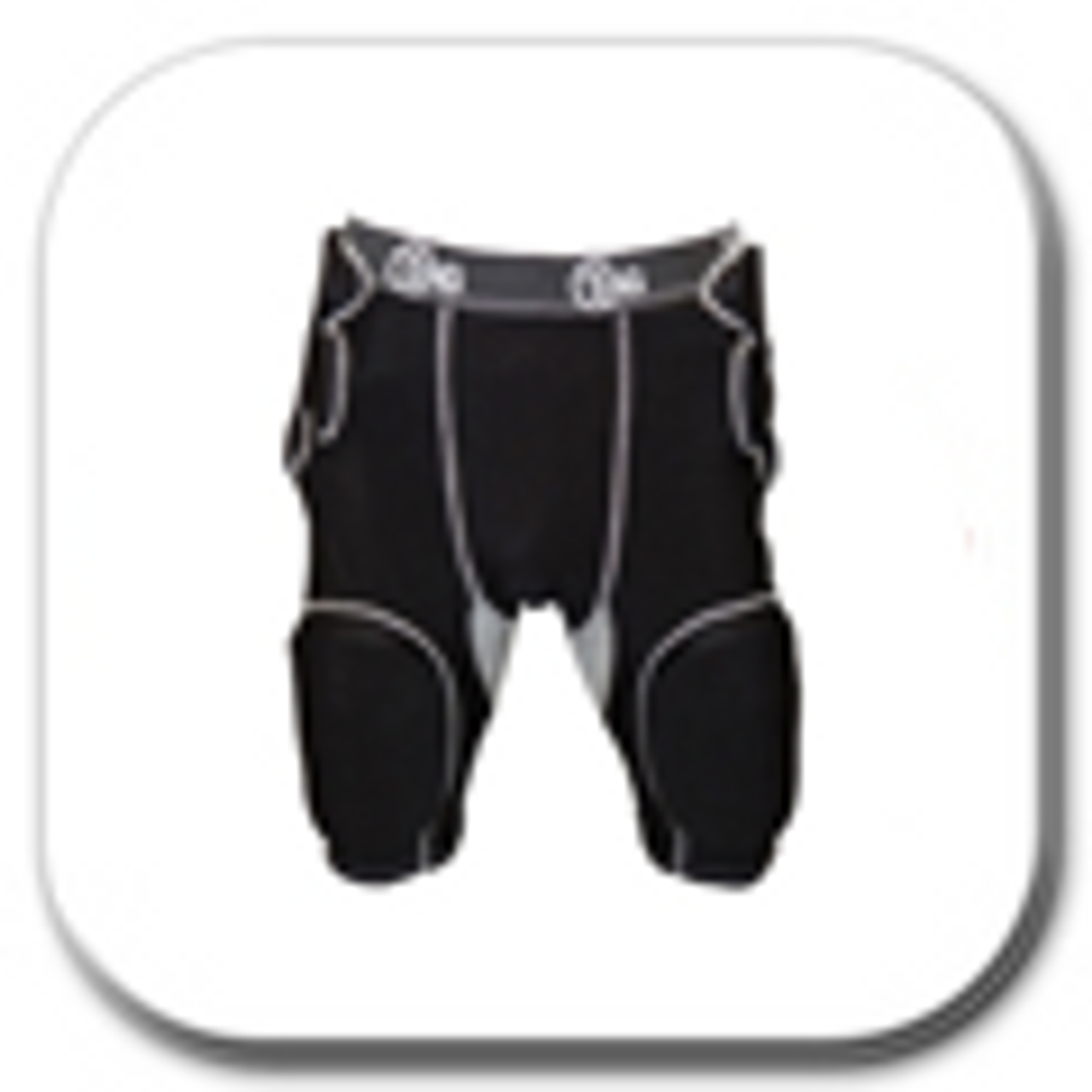 Sizes: Youth, Adult Football Lightweight Molded Foam Knee Pads for Slotted Football Pants