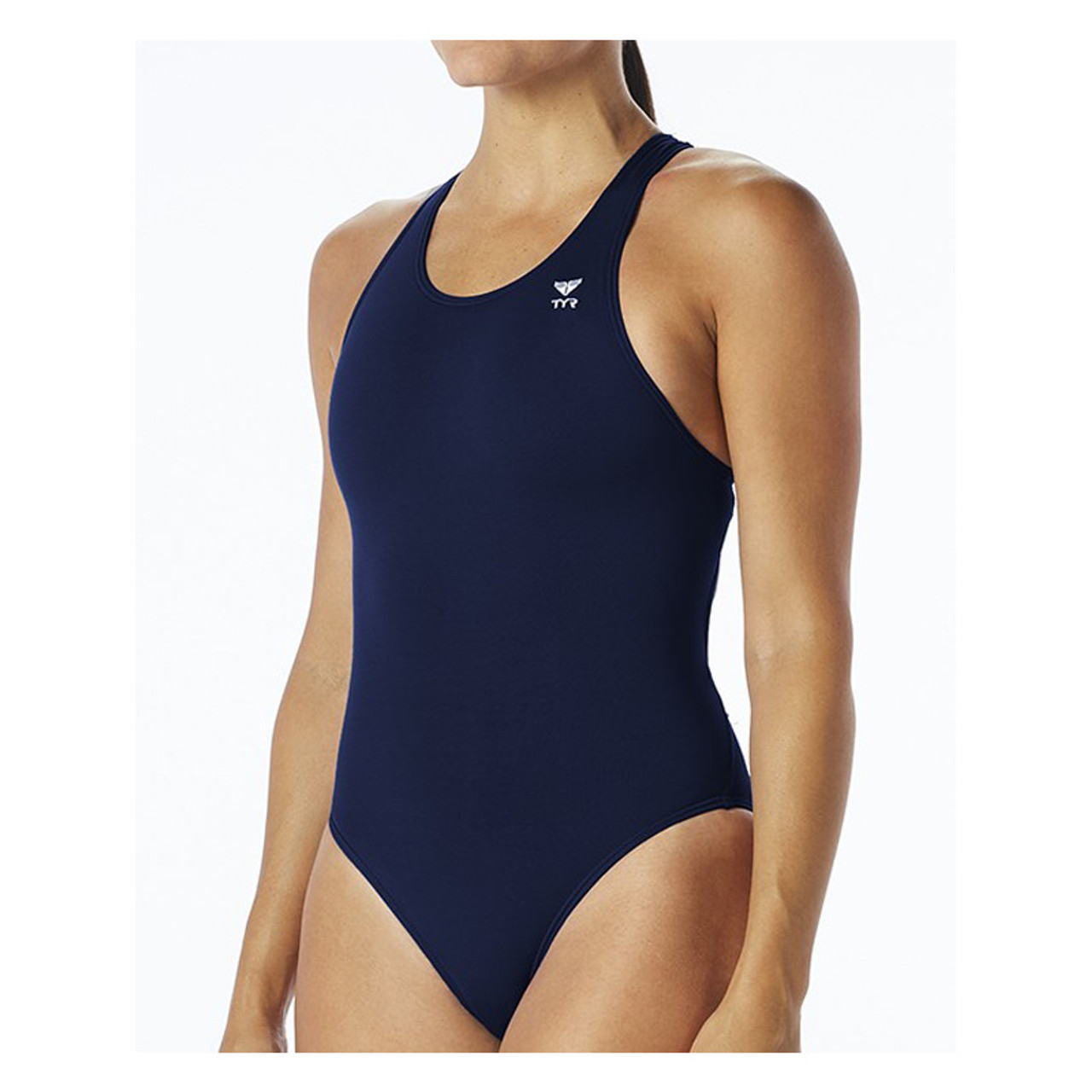 TYR Sport Womens Solid Maxback Swim Suit
