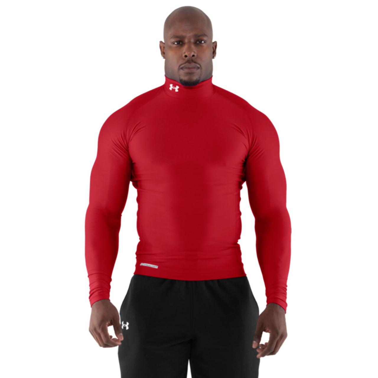 różne style style mody świetna jakość Under Armour Mens Coldgear Long Sleeve Compression Mock - Red