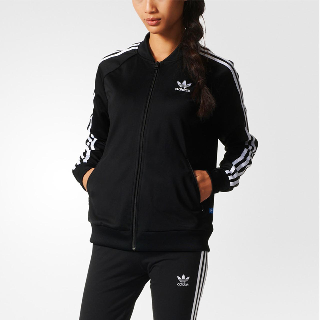 c32edce04c90 Adidas Womens Performance Basic Jacket - Black/White