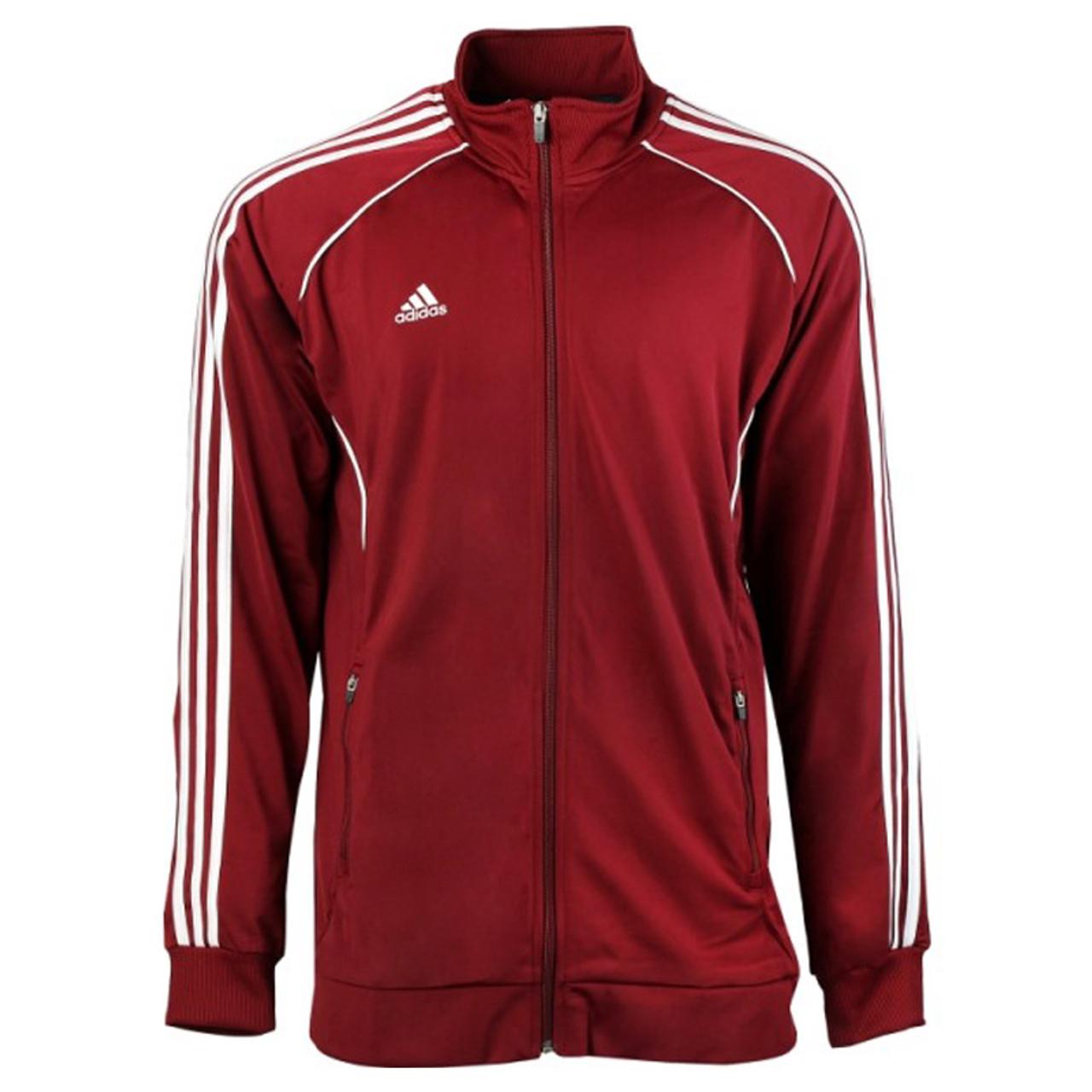 7937a38e54 Adidas Mens Performance Basic Jacket - Maroon/White