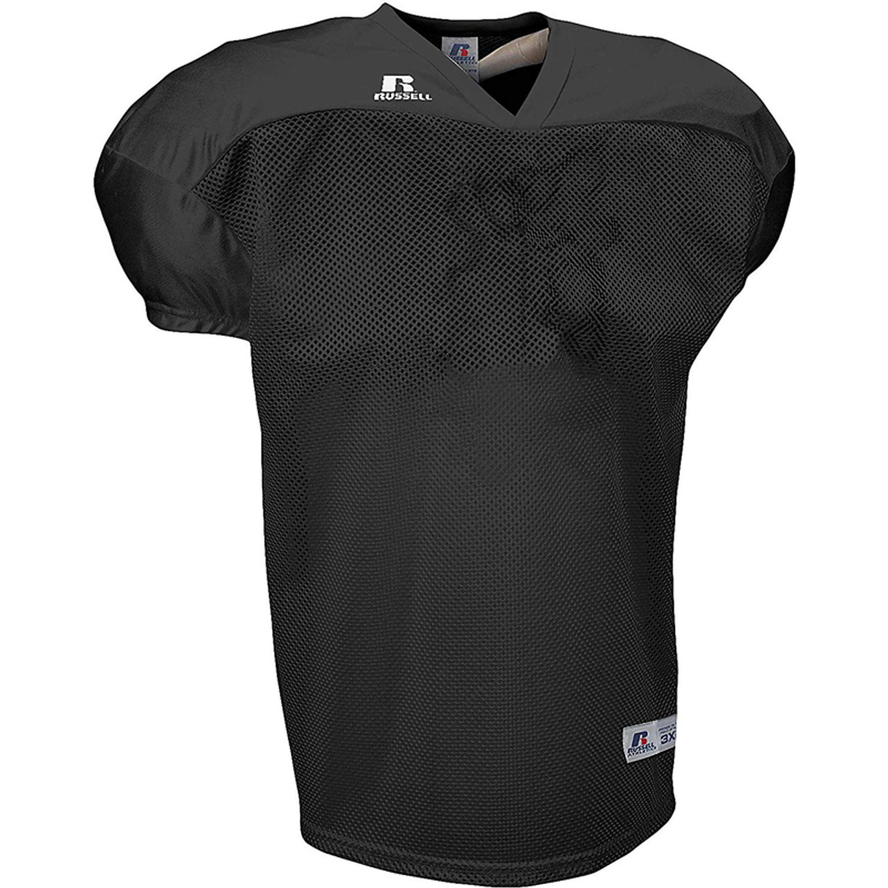 the latest 5b8d4 33077 Russell Practice Football Jersey - Black-3XL