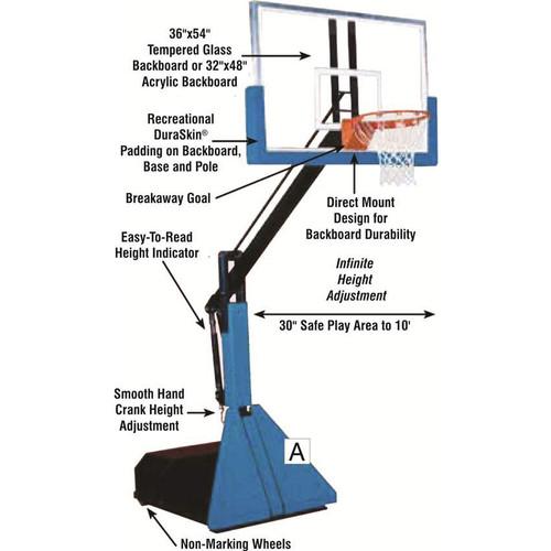 Bison Glass Max Portable Basketball Unit