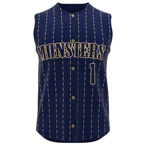 AthElite Mens Sleeveless Baseball Full Button Jersey (AE-BA-JS-111)