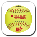 "11"" Synthetic Leather Softballs height="