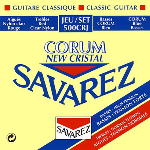 Savarez 500CRJ Cristal Corum, Mixed Tension Strings (front)