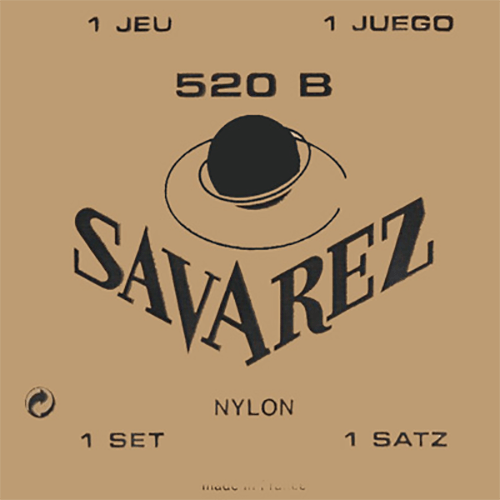 Savarez 520B Traditional, Low Tension (White Card) Strings (front)