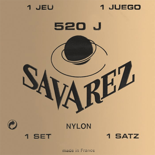 Savarez 520J Traditional, Very High Tension (Yellow Card) Strings (front)