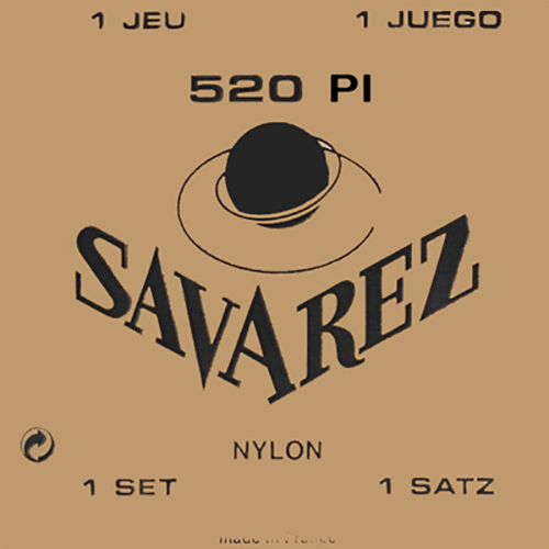Savarez 520P1 Traditional, High Tension (Red Card) Strings (front)