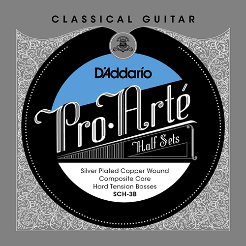 D'Addario SCF-3B Pro-Arte Basses Composite/Flamenco Product Package