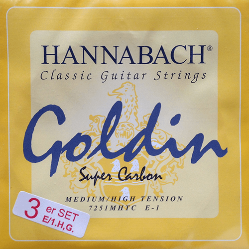 Hannabach 725 Goldin, Trebles Only Product Package