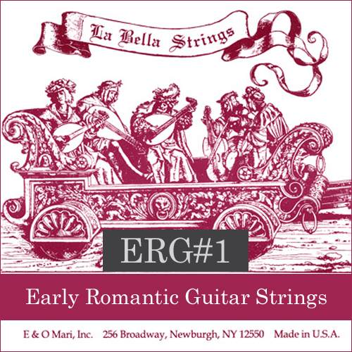 La Bella ERG#1 Early Romantic Guitar Strings, Nylon/Silver