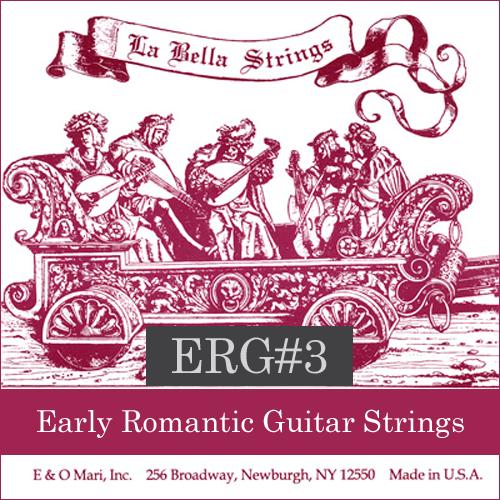 La Bella ERG#3 Early Romantic Guitar Strings, Nylon/Copper