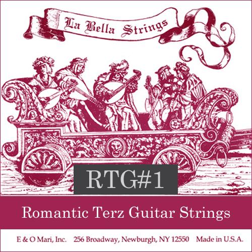 La Bella RTG#1 Romantic Terz Guitar Strings, Nylon/Silver