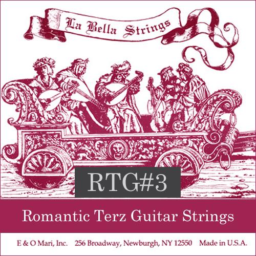 La Bella RTG#3 Romantic Terz Guitar Strings, Nylon/Copper