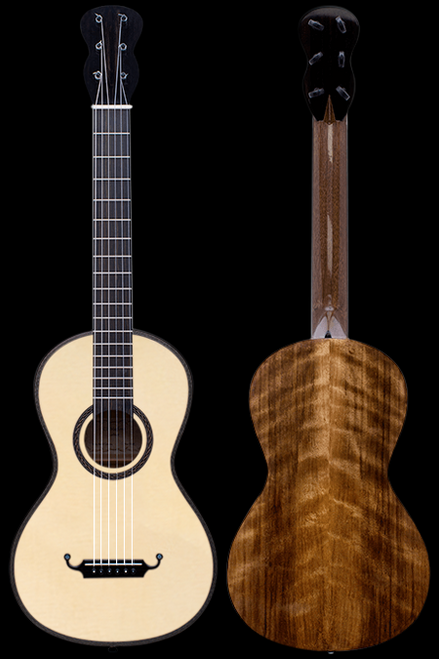 Marfione Lacote Style Curly Walnut Romantic Guitar