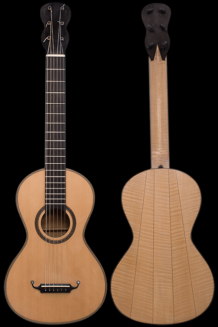 Marfione Lacote Style Curly Maple Romantic Guitar