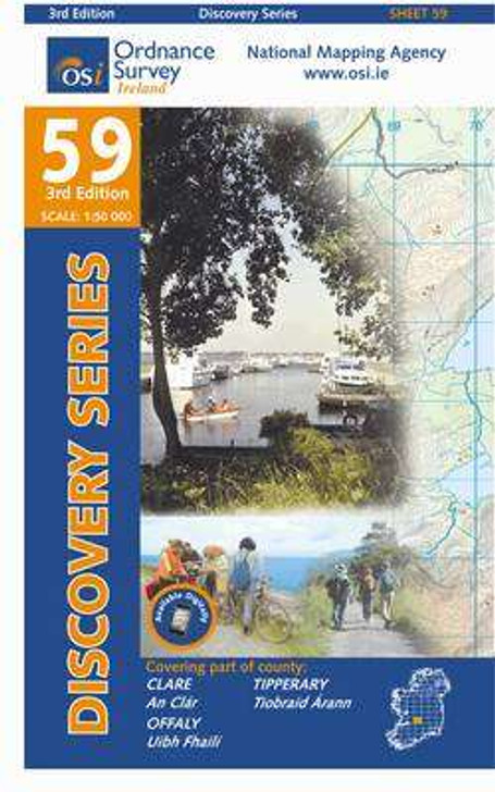 Ordnance Survey Ireland Map 59 (Discovery Series): Clare, Offaly, Tipperary 3rd Ed