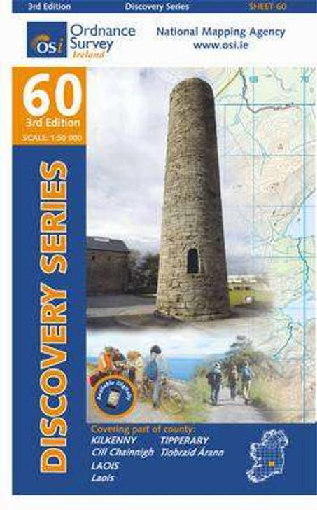 Ordnance Survey Ireland Map 60 (Discovery Series): Kilkenny, Laois, Tipperary 3rd Ed