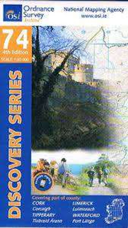 Ordnance Survey Ireland Map 74 (Discovery Series): Cork, Tipperary, Limerick, Waterford 4th Ed