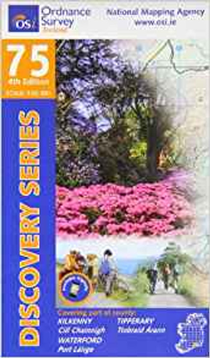Ordnance Survey Ireland Map 75 (Discovery Series): Kilkenny, Waterford, Tipperary 4th Ed