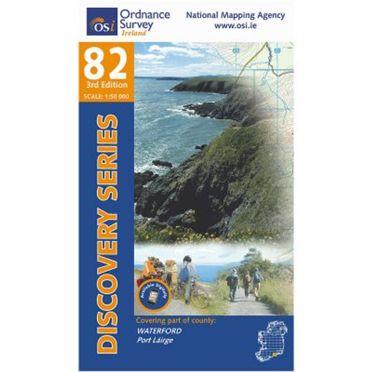Ordnance Survey Ireland Map 82 (Discovery Series): Waterford 3rd Ed.
